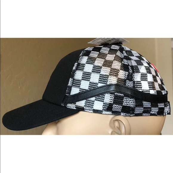 0f964390bb2 Vans Men s RARE Snapback Side Stripe Court Checker